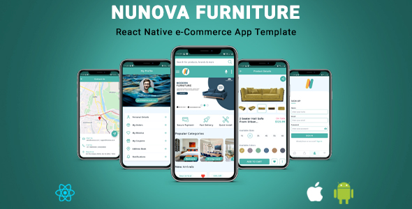 [Free Download] NunovaFurniture   React Native eCommerce App Template (Nulled) [Latest Version]