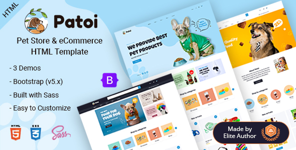 [Free Download] Patoi – Pet Care Shop HTML Template (Nulled) [Latest Version]