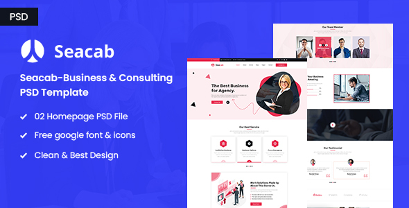 [Free Download] Seacab-Creative Agency PSD Template (Nulled) [Latest Version]