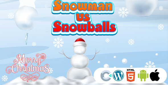 [Free Download] Snowman vs Snowballs Game (Construct 3 | C3P | HTML5) Christmas Game (Nulled) [Latest Version]