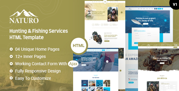 [Free Download] Naturo – Hunting and Fishing Services HTML Template (Nulled) [Latest Version]