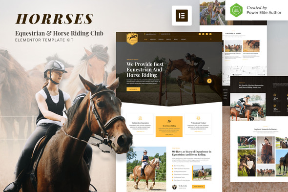 [Free Download] Horrses – Equestrian & Horse Riding Club Elementor Template Kit (Nulled) [Latest Version]