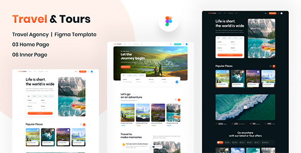 [Free Download] Travel & Tours | Website Figma Template (Nulled) [Latest Version]