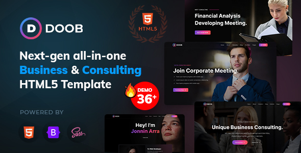 [Free Download] Doob – Business & Consulting Bootstrap 5 Template (Nulled) [Latest Version]